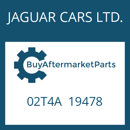 JAGUAR CARS LTD. 02T4A  19478 - STEUERUNG