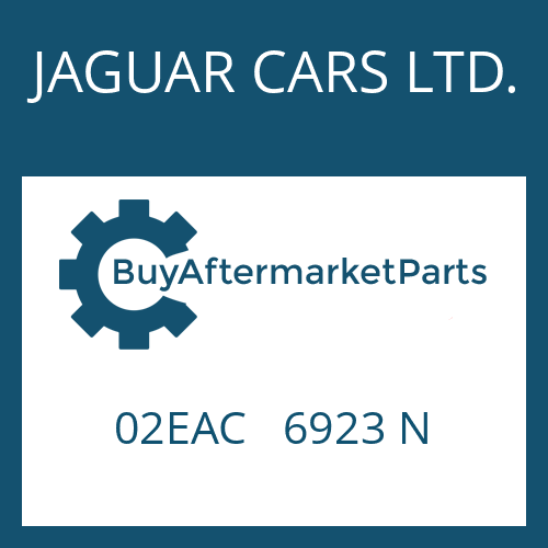 JAGUAR CARS LTD. 02EAC   6923 N - CONVERTER