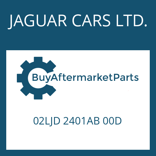 JAGUAR CARS LTD. 02LJD 2401AB 00D - EGS 2