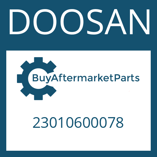 DOOSAN 23010600078 - UNIVERSAL SHAFT