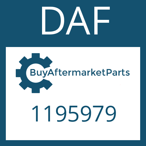 DAF 1195979 - HEXAGON NUT