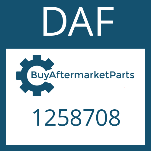 DAF 1258708 - GEAR SHIFT SHAFT