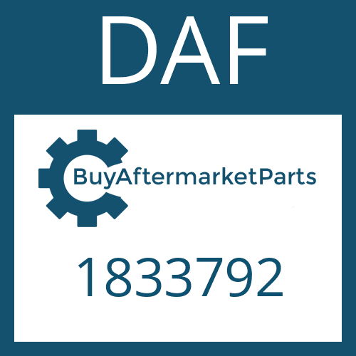DAF 1833792 - SEAL KIT