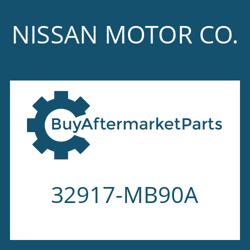 NISSAN MOTOR CO. 32917-MB90A - SLOTTED PIN