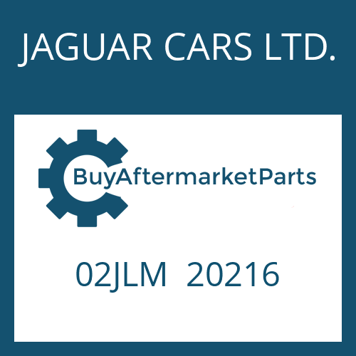 JAGUAR CARS LTD. 02JLM  20216 - FILTER
