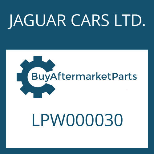 JAGUAR CARS LTD. LPW000030 - FILTER