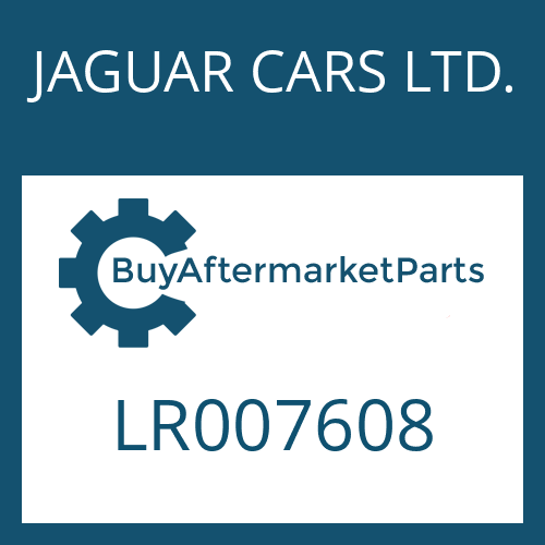JAGUAR CARS LTD. LR007608 - SCREW PLUG