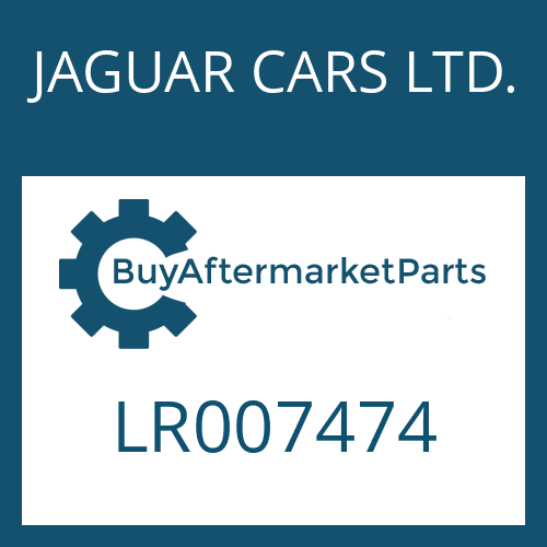 JAGUAR CARS LTD. LR007474 - OIL PAN