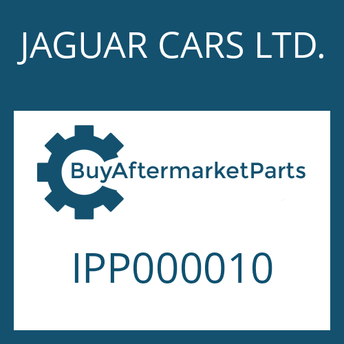 JAGUAR CARS LTD. IPP000010 - ADHESIVE LABEL