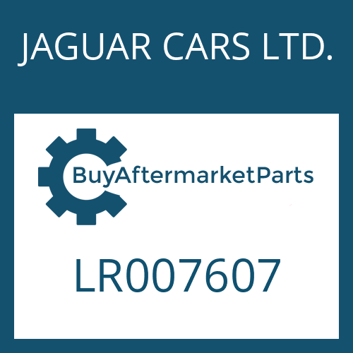 JAGUAR CARS LTD. LR007607 - SCREW PLUG