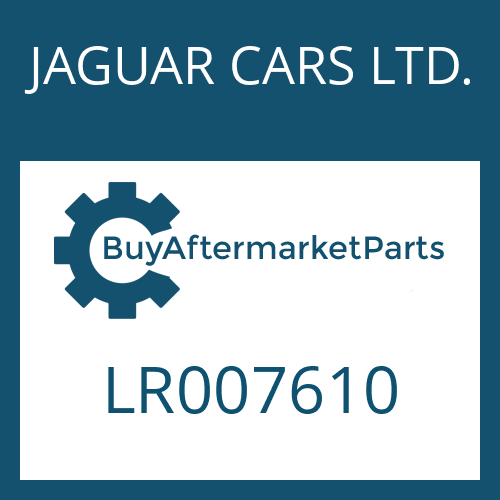 JAGUAR CARS LTD. LR007610 - SCREW PLUG