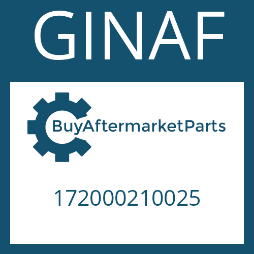 GINAF 172000210025 - BEARING HOUSING