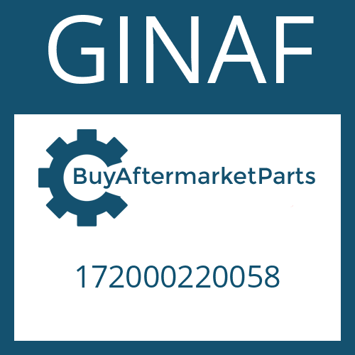 GINAF 172000220058 - OUTPUT SHAFT