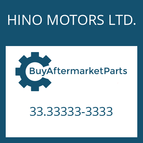 HINO MOTORS LTD. 33.33333-3333 - PUMP HOUSING