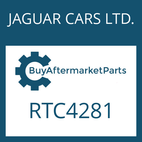 JAGUAR CARS LTD. RTC4281 - COMPR.SPRING