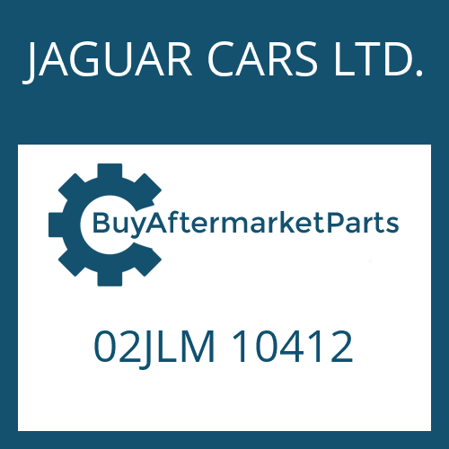 JAGUAR CARS LTD. 02JLM 10412 - RUNDDICHTRING