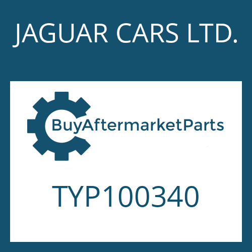 JAGUAR CARS LTD. TYP100340 - HEXALOBULAR DRIVING SCREW