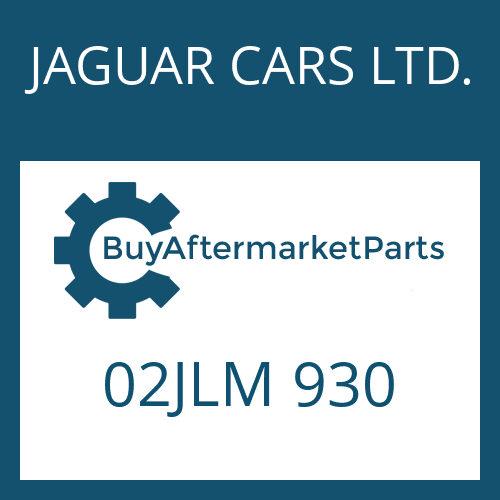 JAGUAR CARS LTD. 02JLM 930 - INTERM.SHAFT