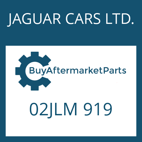 JAGUAR CARS LTD. 02JLM 919 - ROUND SEALING RING