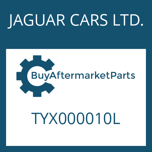 JAGUAR CARS LTD. TYX000010L - RUNDDICHTRING