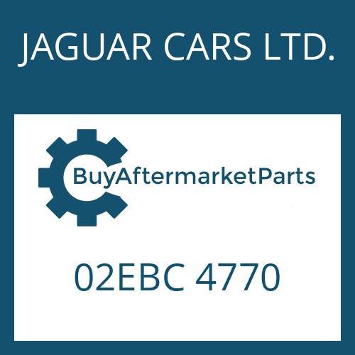 JAGUAR CARS LTD. 02EBC 4770 - CONTROL UNIT