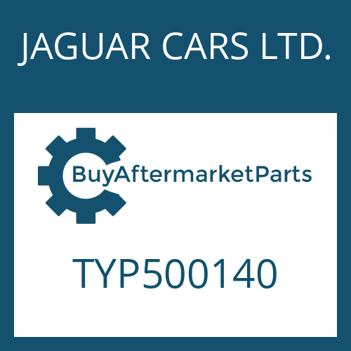 JAGUAR CARS LTD. TYP500140 - COUNTERSUNK SCREW