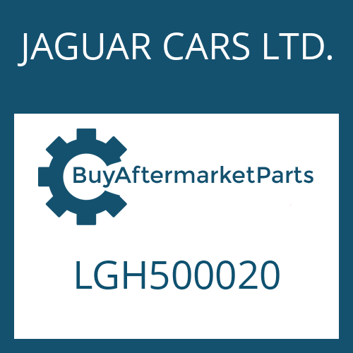 JAGUAR CARS LTD. LGH500020 - CONTROL UNIT