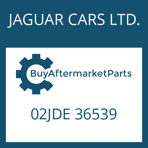 JAGUAR CARS LTD. 02JDE 36539 - O-RING