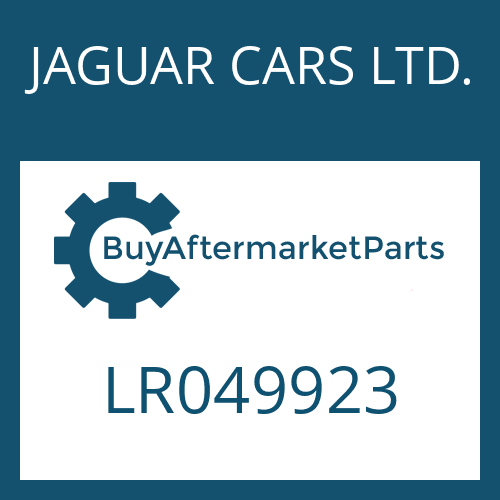 JAGUAR CARS LTD. LR049923 - OELROHR