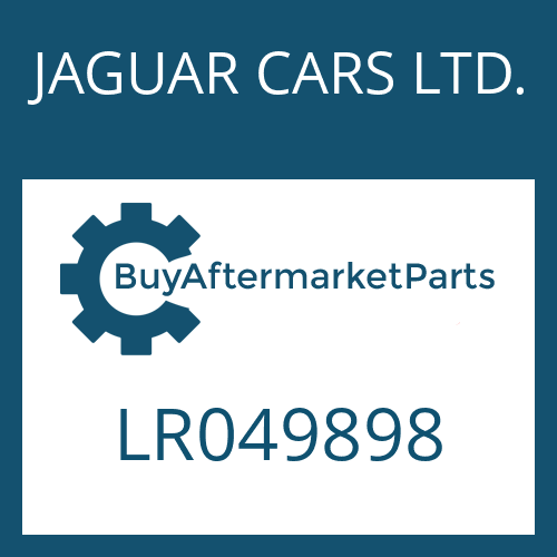 JAGUAR CARS LTD. LR049898 - DRUCKREGLER