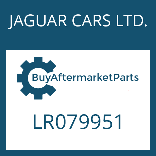 JAGUAR CARS LTD. LR079951 - OIL COOLER