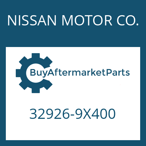 NISSAN MOTOR CO. 32926-9X400 - WASHER
