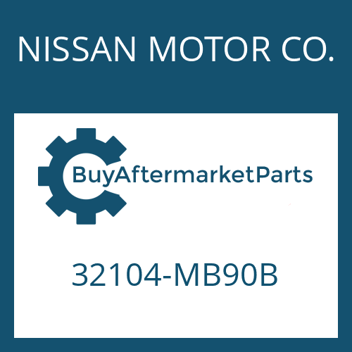 NISSAN MOTOR CO. 32104-MB90B - SCREW PLUG
