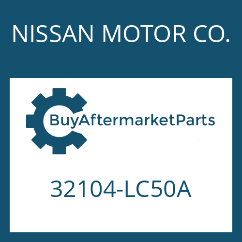 NISSAN MOTOR CO. 32104-LC50A - SCREW PLUG