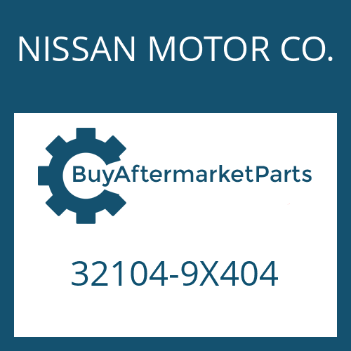 NISSAN MOTOR CO. 32104-9X404 - SCREW PLUG