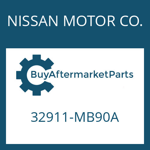 NISSAN MOTOR CO. 32911-MB90A - GEARSHIFT SHAFT