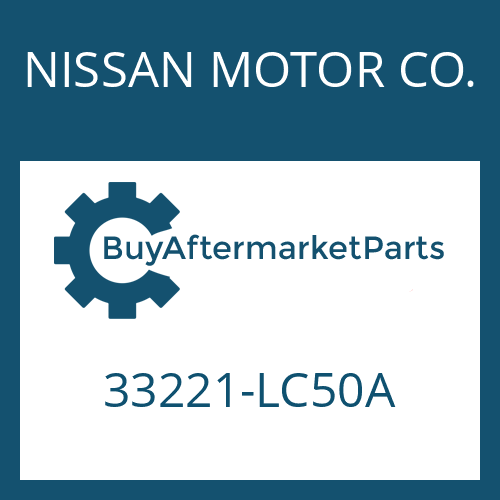 NISSAN MOTOR CO. 33221-LC50A - OUTPUT FLANGE