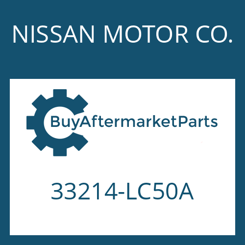 NISSAN MOTOR CO. 33214-LC50A - PROTECTIVE SHEET