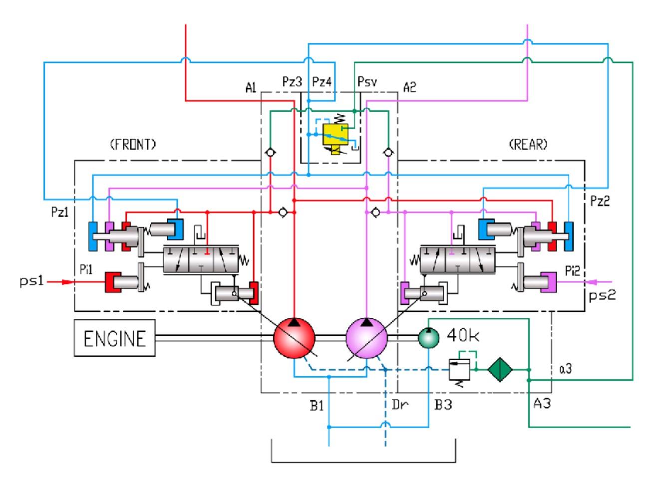 How it works: Hydraulic main pump K3V, K5V series Kawasaki | FAQ — in  online store BuyAftermarketParts | Hydraulic Pump Schematic |  | Buy Aftermarket Parts